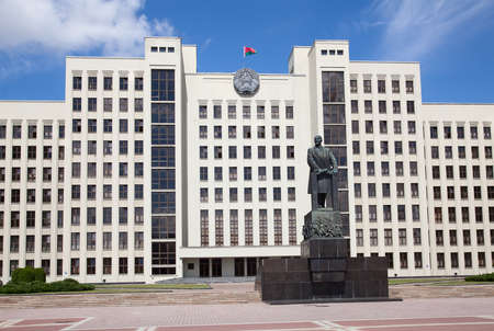 dictatorship: Parliament building on the Independence square in Minsk. Belarus