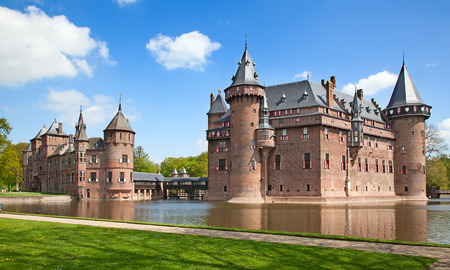 Ancient De Haar castle near Utrecht, Netherlands Stock Photo - 54685436