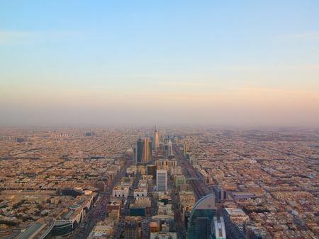 Luchtfoto van het centrum van Riyadh in Riyadh, Saoedi-Arabië.