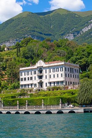 Panoramic view of Cernobbio town (Como lake, Italy)