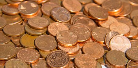 cent: Pile of the euro cent coins