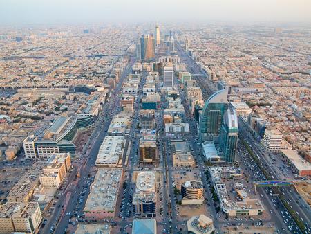 리야드에서 리야드, 사우디 아라비아의 공중보기.