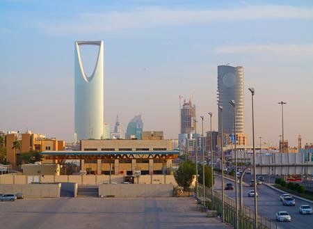 RIYADH - FEBRUARY 29: Kingdom tower on February 29, 2016 in Riyadh, Saudi Arabia. Kingdom tower is a business and convention center, shoping mall and one of the main landmarks of Riyadh city Editorial