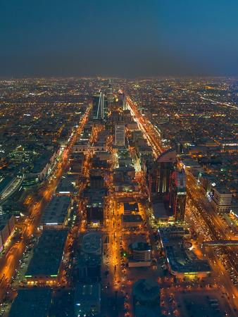 gcc: Aerial view of Riyadh downtown in Riyadh, Saudi Arabia.