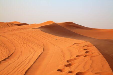 "desierto del sahara: Arena roja ""desierto de Arabia"", cerca de Dubai, Emiratos Árabes Unidos Foto de archivo"