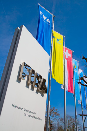 scandals: ZURICH - APRIL 10: Headquarter of FIFA international football (soccer) association on April 10, 2016 in Zurich, Switzerland. FIFA is heavily critizied for multiple corruption scandals.