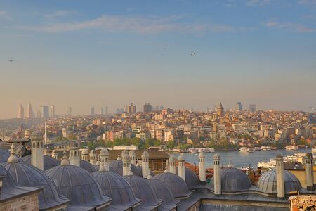 constantinople ancient: View of the modern Istanbul city