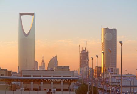 gcc: RIYADH - MARCH 01: Early morning in Riyadh downtown on March 01, 2016 in Riyadh, Saudi Arabia.