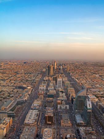 opec: RIYADH - FEBRUARY 29: Aerial view of sunset over Riyadh downtown on February 29, 2016 in Riyadh, Saudi Arabia.