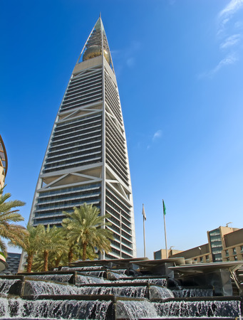ksa: RIYADH - DECEMBER 22: Al Faisaliah tower facade on December 22, 2009 in Riyadh, Saudi Arabia. Al Faisaliah towers is a luxury hotel and the most distinctive skyscraper in Saudi Arabia