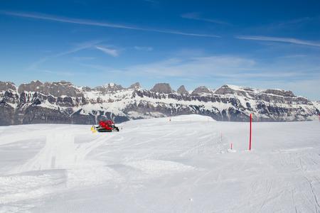 slope: Slope on the skiing resort Flumserberg. Switzerland