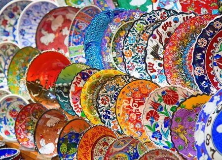 Traditional Turkish ceramics on the Grand Bazaar