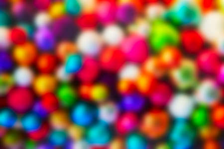 color balls: Defocused ligths of Christmas tree Stock Photo