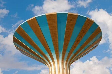 gcc: Water tower in the Riyadh city, Saudi Arabia