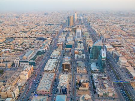 opec: RIYADH - FEBRUARY 29: Aerial view of Riyadh downtown on February 29, 2016 in Riyadh, Saudi Arabia. Editorial