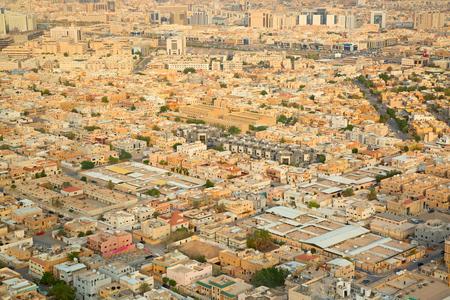 gcc: RIYADH - August 22: Aerial view of Riyadh downtown on August 22, 2016 in Riyadh, Saudi Arabia.