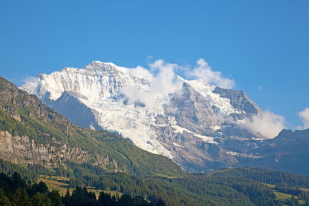 high section: Summer landscape in the Jungfrau region