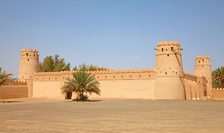 Sheikh: Famous Jahili fort in Al Ain oasis, United Arab Emirates