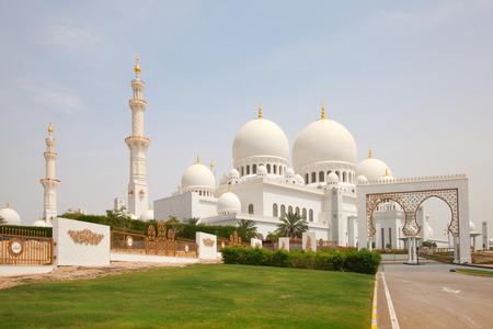 sheikh: Famous Sheikh Zayed mosque in Abu Dhabi, United Arab Emirates Stock Photo