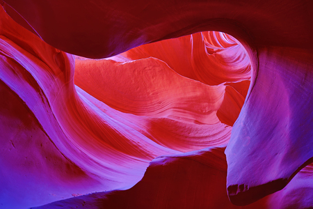 Beroemde Antilope Canyon dichtbij Page, Arizona Stockfoto