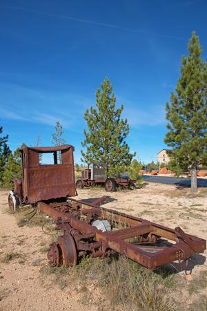 rusty car: Abandond rusty wrecks of the old car