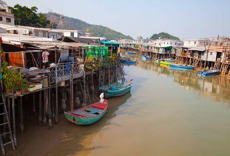 O Tai Fishing village near Lantau island in Hong Kong, China
