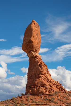 Famous Balancing rock in the Arches National park, Utah, USA