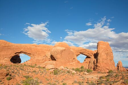 Famous Windows arch in the Arches National park, Utah, USA
