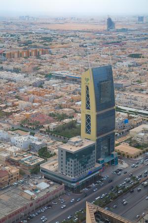KSA: RIYADH - AUGUST 22: Aerial view of Riyadh downtown on August 22, 2016 in Riyadh, Saudi Arabia.