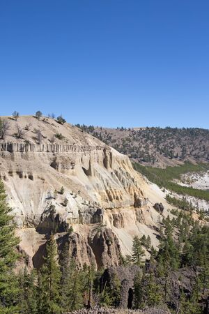 plateau: Calcite springs area of the Yellowstone National Park, Wyoming, USA
