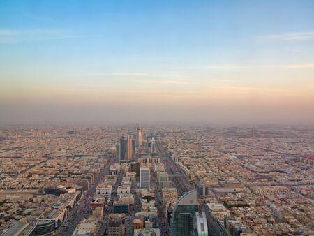 RIYADH - FEBRUARY 29: Aerial view of Riyadh downtown on February 29, 2016 in Riyadh, Saudi Arabia. Editorial