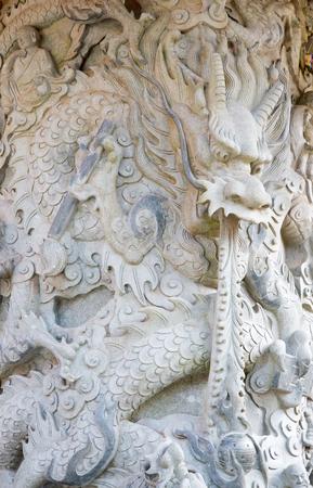 Interior of the Po Lin monastery on Lantau Island (Hong Kong) Stock Photo
