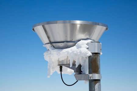 Weather station on the top of the mount Santis, Switzerland Stock Photo