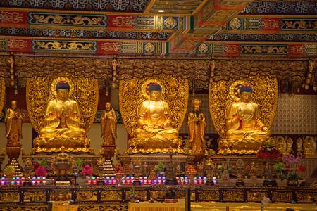 Interior of the Po Lin monastery on Lantau Island (Hong Kong) Editorial