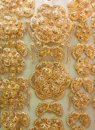 Gold on the famous Golden souk in Dubai