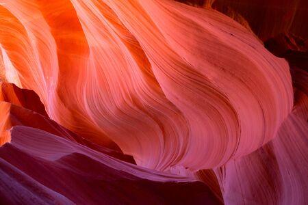 slot canyons: Famous Antelope canyon near Page, Arizona