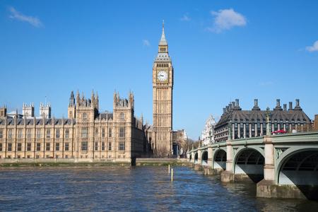 ロンドン、英国で有名なビッグベンの時計台。 写真素材