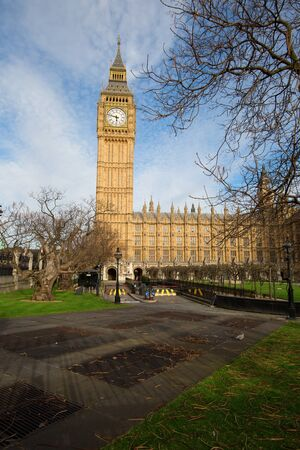 spire: Famous Big Ben clock tower in London, UK. Stock Photo