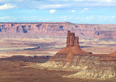 Island of the sky of the Canyonlands Narional Park in Utah, USA 版權商用圖片