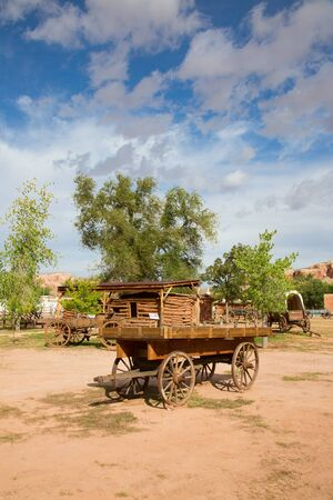 outpost: Historial outpost of the Wild West Pioneers on the border between Arizona and Utah