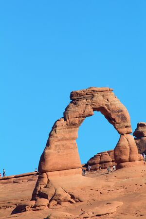 Famous Delicate arch in the Arches National park, Utah, USA