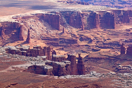 Island of the sky of the Canyonlands Narional Park in Utah, USA Stock Photo