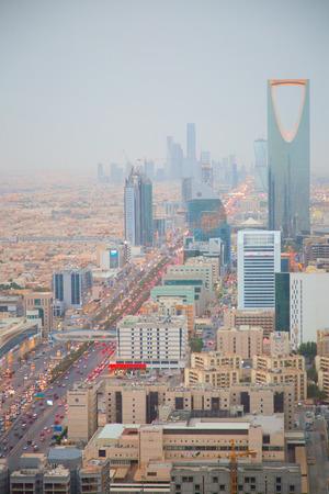 RIYADH - AUGUST 21: Aerial view of Riyadh downtown on August 21, 2016 in Riyadh, Saudi Arabia. Editorial