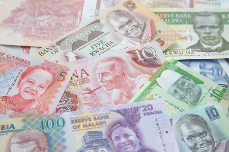 Variety of the African banknotes Editorial