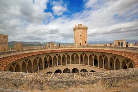 Famous Castell de Bellver in Palma de Mallorca, Spain