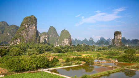 mi: The Li River or Lijiang is a river in Guangxi Zhuang Autonomous Region, China. It flows 83 kilometres (52 mi) from Guilin to Yangshuo and famous for landscape formed by karst rocks.