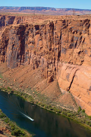 Famous Lake Powell (Glenn canyon) near Page, Arizona Stock Photo