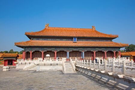 The Forbidden City (Palace museum), the Chinese imperial palace from the Ming dynasty to the end of the Qing dynasty (1420 to 1912). Stock Photo