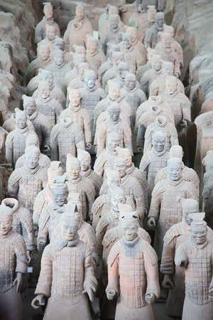Famous Terracotta Army in Xi'an, China