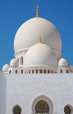 Famous Sheikh Zayed mosque in Abu Dhabi, United Arab Emirates Editorial